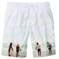 Bermudy plażowe Regular Fit bonprix biały z nadrukiem