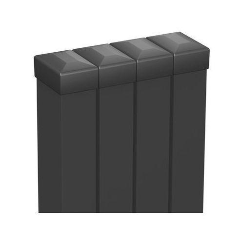 Słupek ogrodzeniowy 6 x 4 x 200 cm 4 szt. antracytowy POLARGOS (5902360113152)