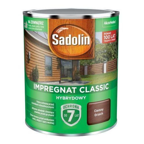 Impregnat do drewna Sadolin Hybrydowy ciemny orzech 0,75 l (5904078212332)