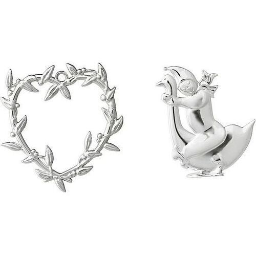 Dekoracje choinkowe karen blixen serce i chłopiec srebrne 2 szt. marki Rosendahl