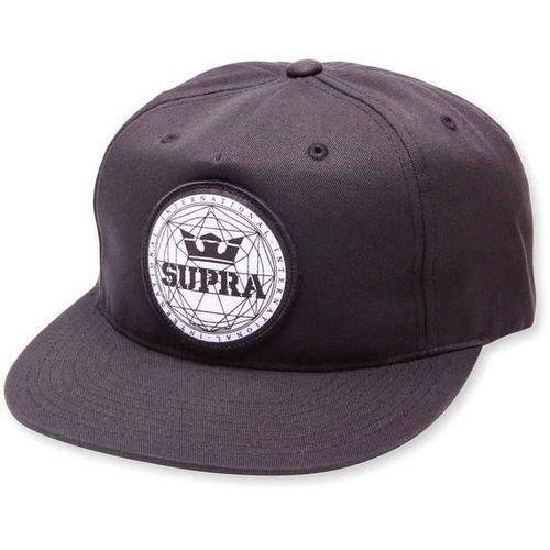 czapka z daszkiem SUPRA - Geo Patch Slider Hat Black (008) rozmiar: OS