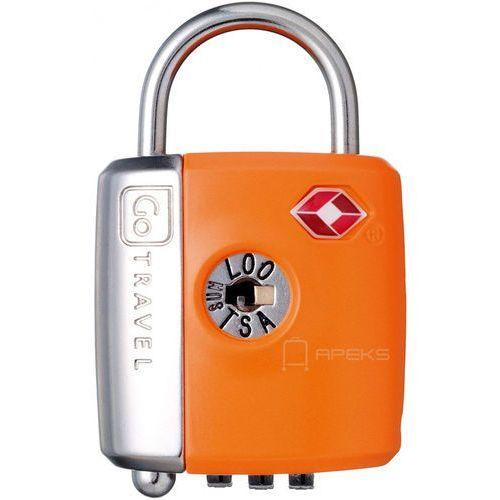 Go Travel DG/337 kłódka TSA z zamkiem szyfrowym oraz kluczyk / pomarańczowa - pomarańczowy