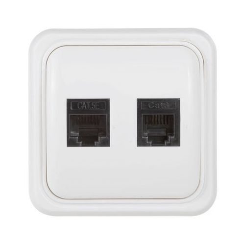 Gniazdo telefoniczno - komputerowe evodpm154 biały marki Evology
