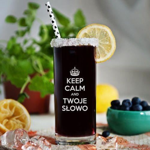 Keep calm - grawerowana szklanka do drinków - szklanka marki Mygiftdna