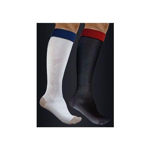 Podkolanówki sportowe kompresyjne medyczne z tlenkiem miedzi active effect sport - kolor czarny - unisex (ucisk i klasy 21mmhg) - antistress marki Antistress (włochy)