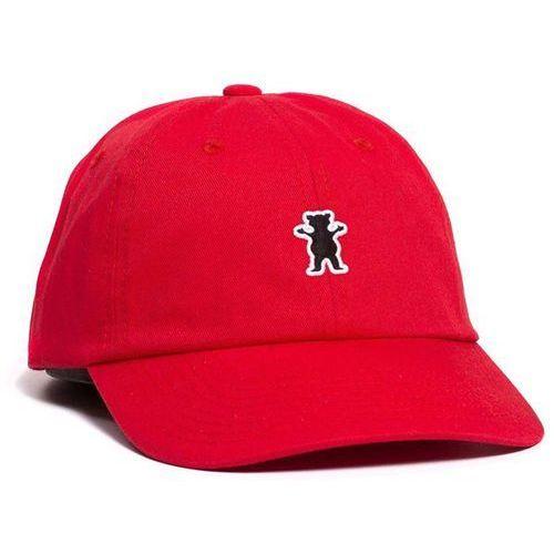 czapka z daszkiem GRIZZLY - Og Bear Patch Dad Hat Red (RED) rozmiar: OS