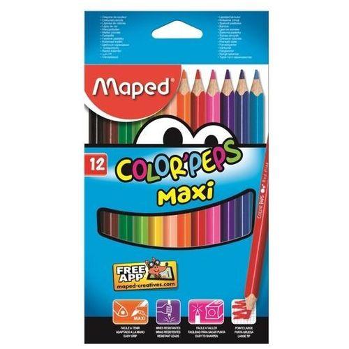 Maped Kredki colorpeps maxi trójkatne 12 kolorów (3154148340102)