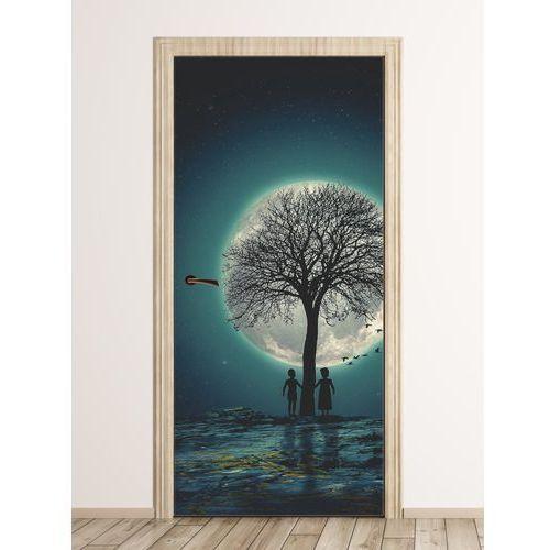 Wally - piękno dekoracji Fototapeta na drzwi dla dzieci dzieci i księżyc fp 6009