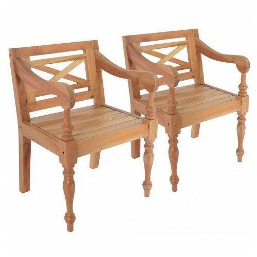 Mahoniowe fotele na taras amarillo 2 szt - jasnobrązowe marki Elior