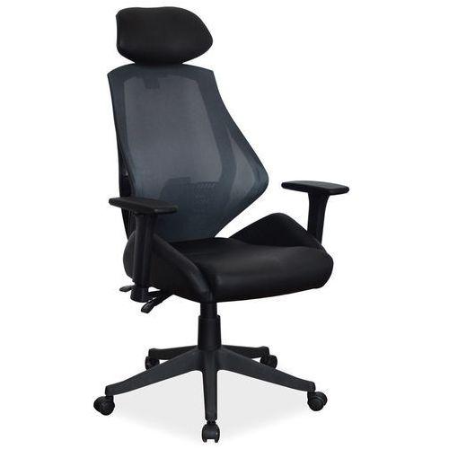 Fotel obrotowy q-406 czarny/ szary marki Signal meble