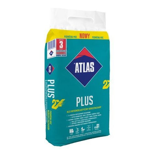 Klej Atlas Plus Nowy 10 kg, W-KP036-A0000-AT8F