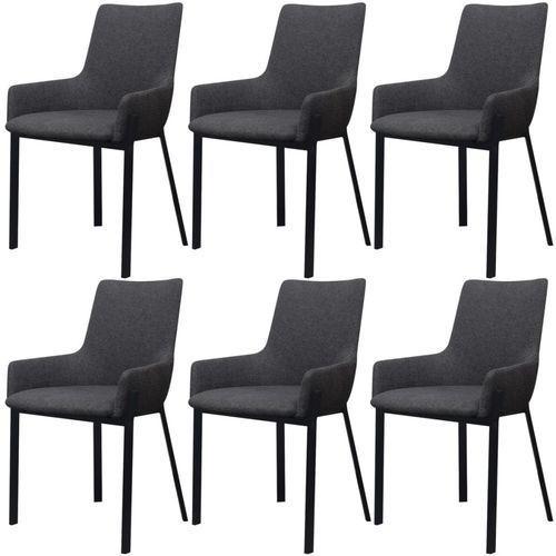 vidaXL Krzesła jadalniane ciemnoszare 6 sztuk (8718475995531)