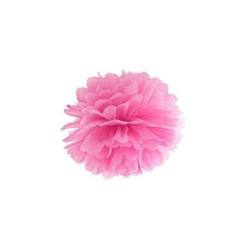 Twojestroje.pl Pompon bibułowy różowy 25cm 1szt