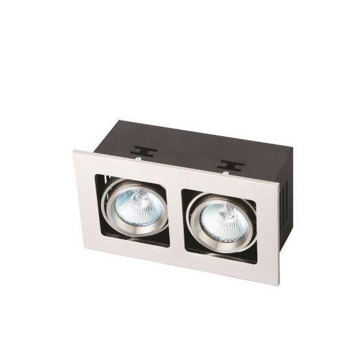 Oczko lampa oprawa wpuszczana downlight box ii 2x50w gu5.3 12v chrom h0013 marki Maxlight