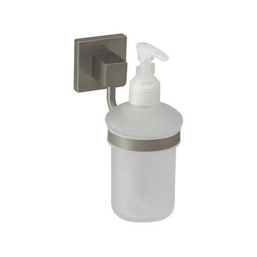 Dozownik do mydła w płynie nord 0,2 litra nikiel mat + szkło mat marki Bisk