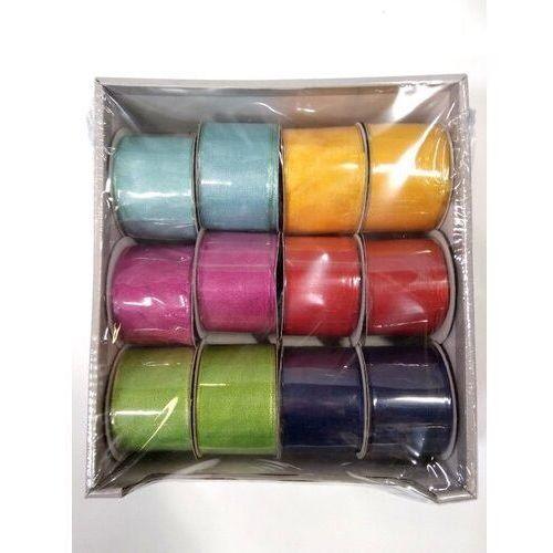 Wstążka ozdobna h013 z drutem 3,8cmx5 op-12 szt mix kolorów (5902557409815)
