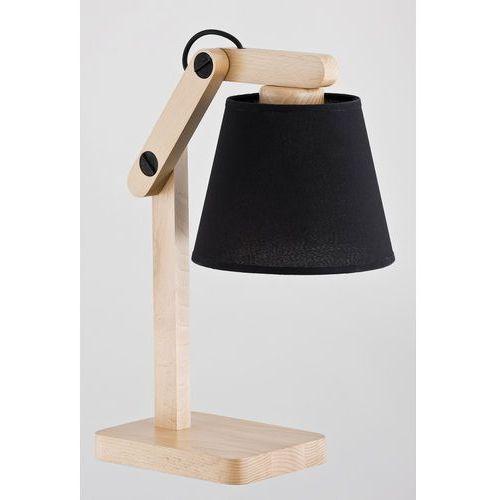 Lampka nocna joga 22718 black lampa biurkowa oprawa lampa stołowa 1x60w e27 czarny drewno marki Alfa