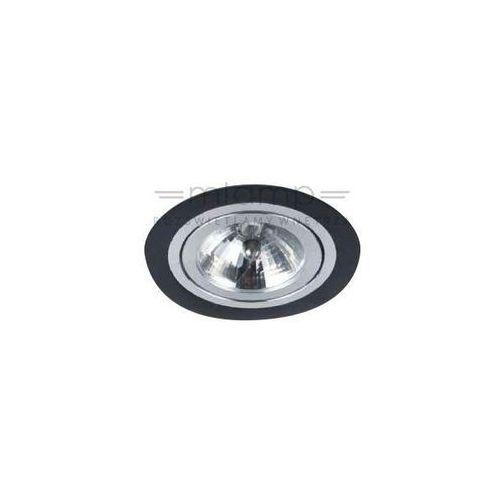 Oczko lampa sufitowa puro nero metalowa oprawa podtynkowa wpust okrągły czarny marki Orlicki design