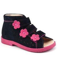 Dziecięce buty profilaktyczne Dawid 1042 - Różowy ||Granatowy