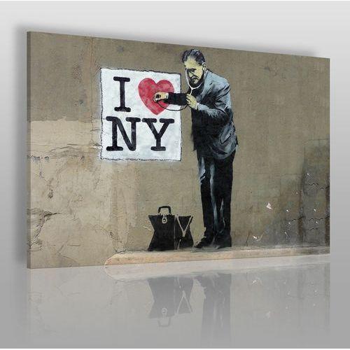 Banksy - I love NY - nowoczesny obraz na płótnie