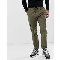 Mennace utility trousers in khaki - green
