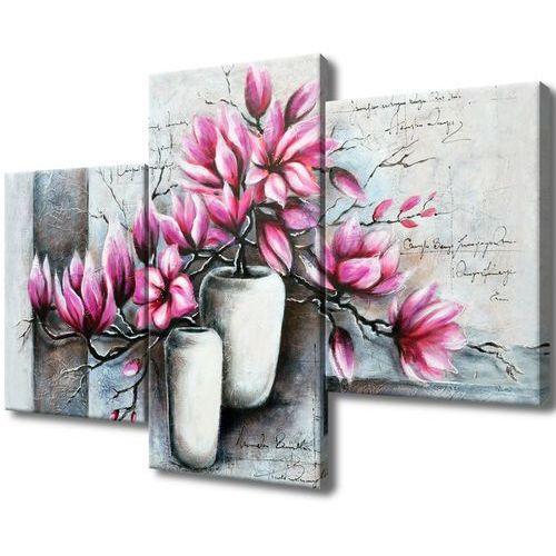 Obraz Tryptyk Magnolie w wazonach magnolia kwiat k