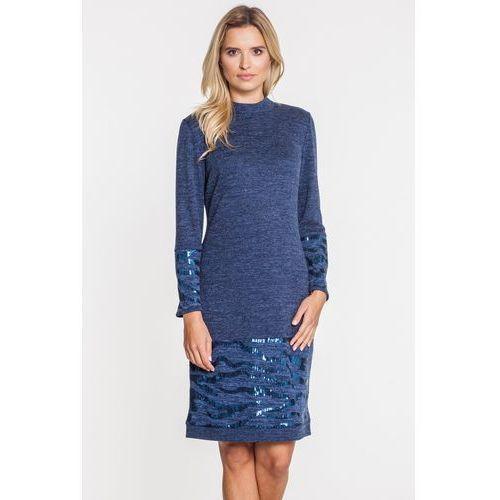 77b3bfe116 Dzianinowa sukienka z cekinowymi przeszy... Producent Studio Mody Francoise  ...