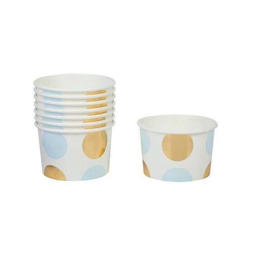 Neviti Pucharki kubeczki do lodów kropki niebieskie - 8 szt. (5060495971334)