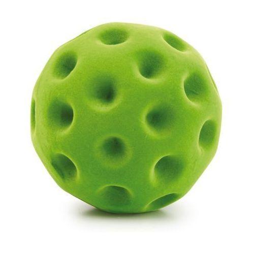 Gumowa zielona piłeczka do ćwiczeń manualnych i małej motoryki - zabawki dla dzieci marki Erzi
