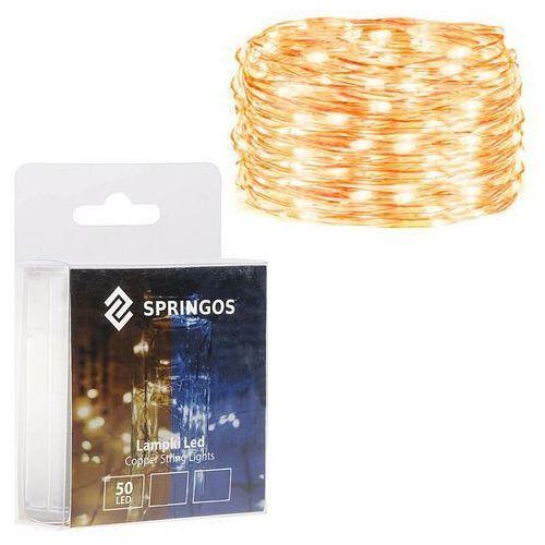 Lampki choinkowe 50 LED druciki mikro na baterie