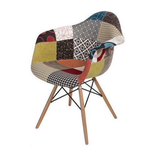 Krzesło P018W patch work, drewniane nogi (5902385708777)