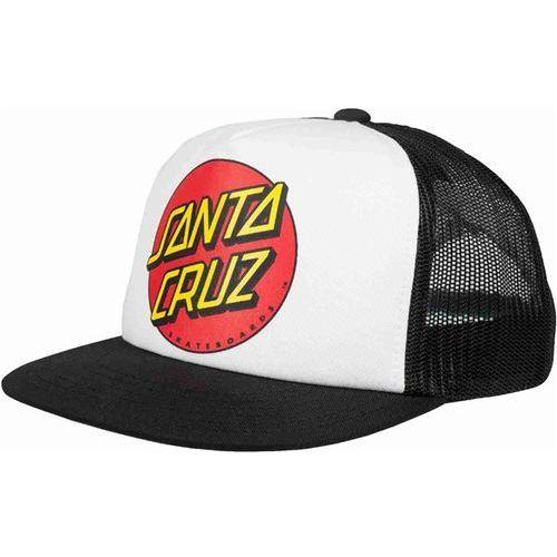 czapka z daszkiem SANTA CRUZ - Classic Dot White/Black (WHITE-BLACK) rozmiar: OS, kolor biały