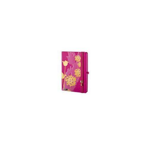Lediberg Notes a6 lanybook tulip mania w kratkę fuksja (8057432194069)