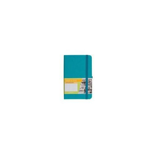 Notes a6 kieszonkowy z gumką romantyzm linia turkusowy - marki Antra