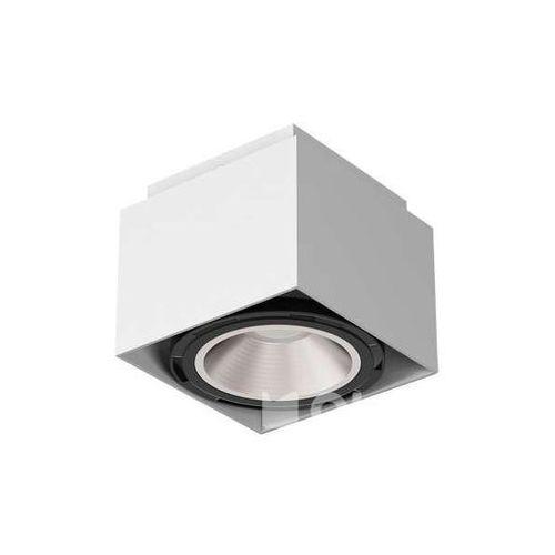 Downlight LAMPA sufitowa TITO T113A2kolor Cleoni natynkowa OPRAWA metalowa SPOT kostka, kolor Biały