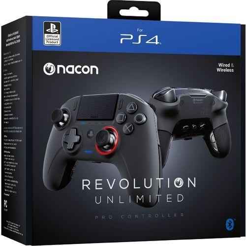 Kontroler bezprzewodowy NACON Revolution Unlimited Pro Czarny do PS4 (3499550370867)