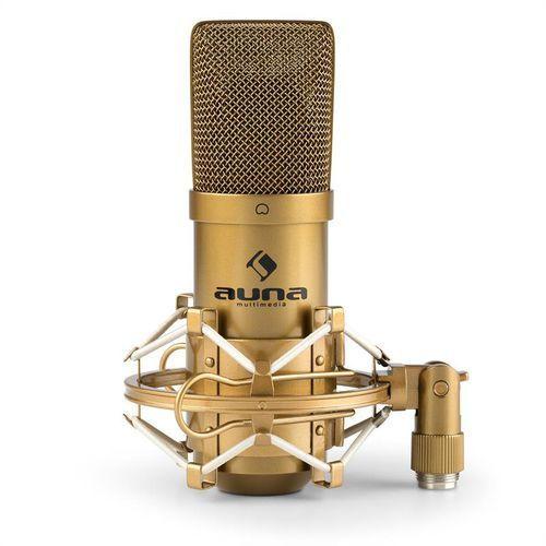 auna MIC-900G mikrofon pojemnościowy nerka studio złoty