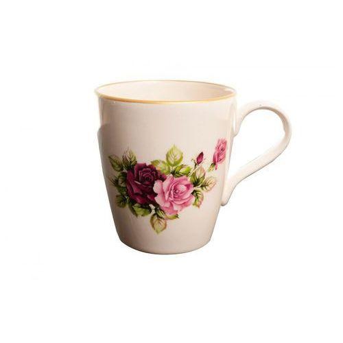 Klasyczny kubek w róże ceramika polska marki Mieroszów