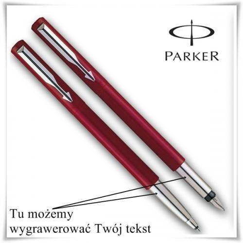 Zestaw długopis i pióro Parker VECTOR Czerwony, upominek z możliwością graweru - sprawdź w wybranym sklepie