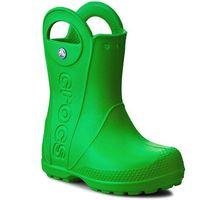 Kalosze CROCS - Handle It Rain Boot Kids 12803 Grass Green