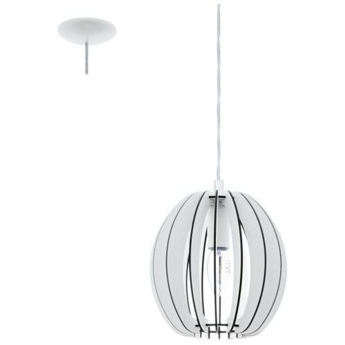 Lampa wisząca cossano śr. 19 cm - biała, 94443 marki Eglo