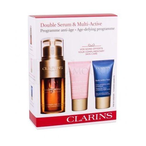 double serum multi-active set zestaw 30 ml serum do twarzy 30 ml + krem na dzień 15 ml + krem na noc 15 ml dla kobiet marki Clarins