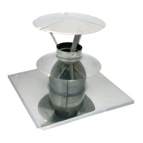 Spiroflex Wywiewka z płytą dachową 80/125 mm biała