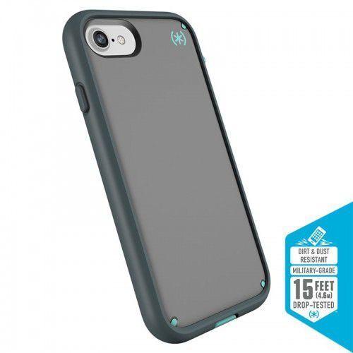 Speck Presidio Ultra - Pancerne etui iPhone 8 / 7 / 6s / 6 z uchwytem do paska & podstawka (Sand Grey/Surf Teal/Mountainside Grey)