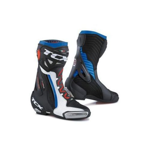 BUTY SPORTOWE TCX RT-RACE PRO AIR WHITE/BLACK/BLUE, kolor niebieski