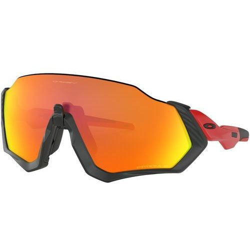 Oakley flight jacket okulary rowerowe czerwony/czarny 2018 okulary sportowe (0888392342386)