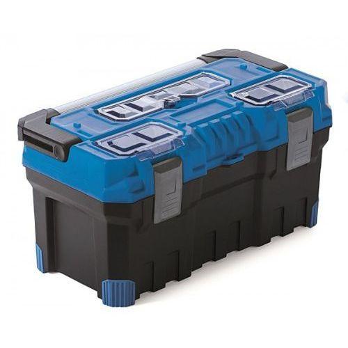 Prosperplast Duża mocna skrzynka narzędziowa titan plus 22a niebieska (5905197093338)