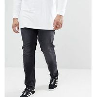 Farah PLUS Drake Slim Fit Jeans in Charcoal - Grey, slim