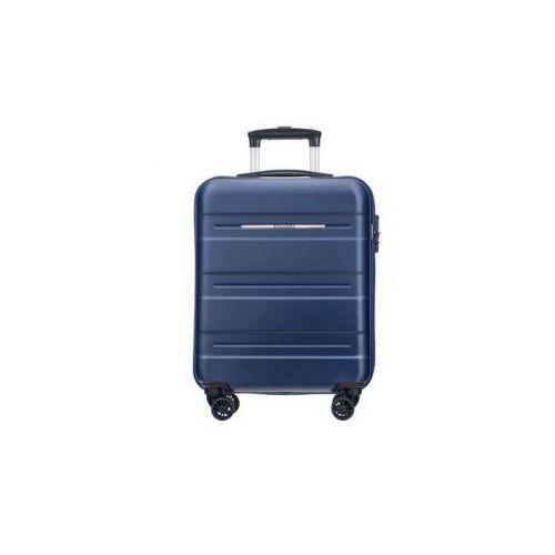 Puccini walizka mała/ kabinowa twarda z kolekcji atlanta pc025 4 koła zamek szyfrowy