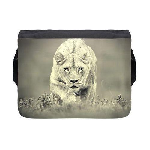 Torba na ramię duża Lion 2, kolor czarny